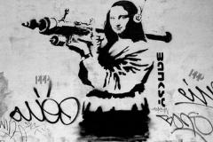 Mona-Lisa-Mujaheddi-parodie-op-Mona-Lisa-bron-Bansky